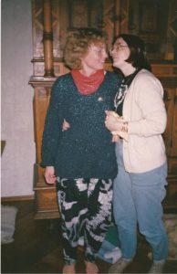 Donate und Pandora beim Arkuna-Workshop 1990